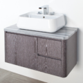 "8058 120x120 - 36"" Lacava Catino  Wall Mount Vanity Base Optional Tops, sink & legs-Avail in Multiple finishes"