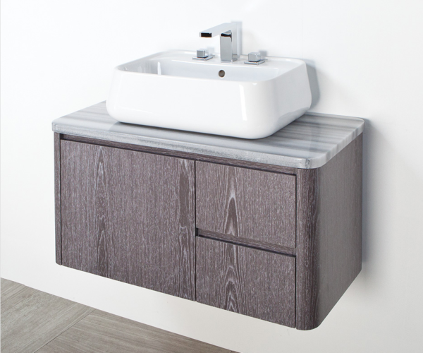 "8058 600x500 - 36"" Lacava Catino  Wall Mount Vanity Base Optional Tops, sink & legs-Avail in Multiple finishes"