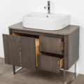 "8058A 120x120 - 36"" Lacava Catino  Wall Mount Vanity Base Optional Tops, sink & legs-Avail in Multiple finishes"