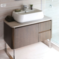 "8058C 120x120 - 36"" Lacava Catino  Wall Mount Vanity Base Optional Tops, sink & legs-Avail in Multiple finishes"