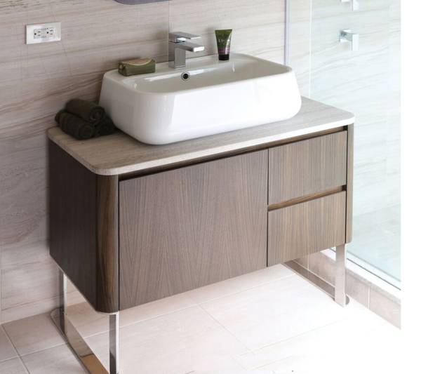 "8058C 600x533 - 36"" Lacava Catino  Wall Mount Vanity Base Optional Tops, sink & legs-Avail in Multiple finishes"