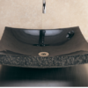 """BLL 1 100x100 - 18"""" x 16""""  Stone Forest Zen Stone Vessel Sink- Avail in 3 colors"""