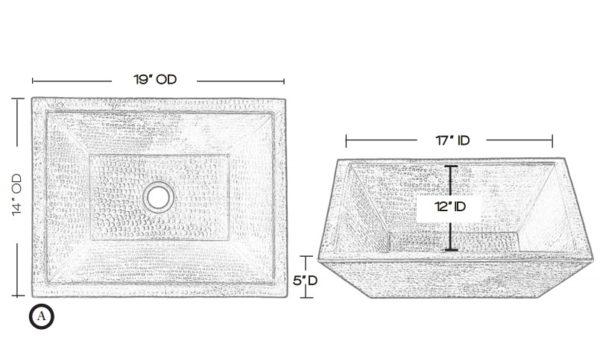 "BPV1914BCS 600x353 - 18"" x 14"" Thompson Traders Diego II Black Copper Sink"