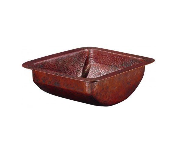 """BRU1210BC 600x461 - 12"""" x 10"""" Thompson Traders Petit Star Sink-Black Copper"""