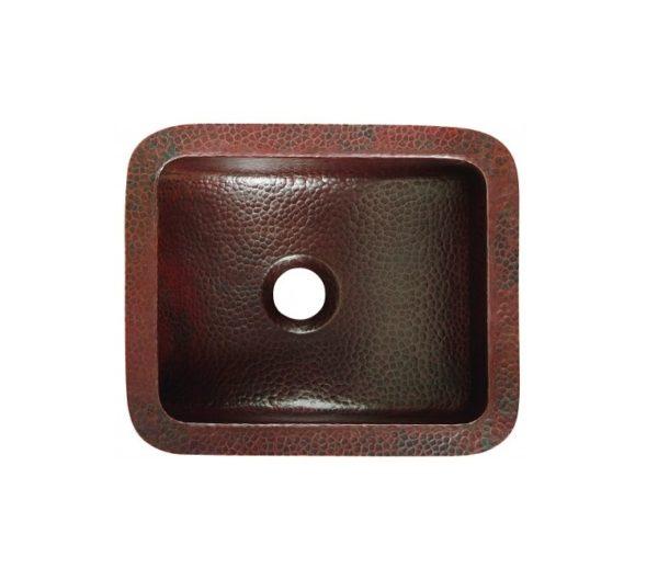 "BRU1210BCA 600x518 - 12"" x 10"" Thompson Traders Petit Star Sink-Black Copper"