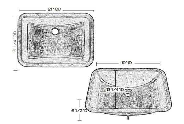 "BRU2115BRNS 600x406 - 21"" x 15.25"" Thompson Traders Starr Sink-Black Copper"