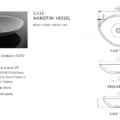 "C125S 120x120 - 22.5"" Stone Forest Akrotiri Vessel Sink"