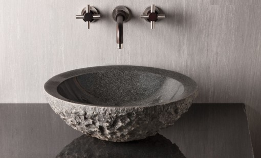 "C25CHL - 18""  Stone Forest Round Stone Vessel Sink- Avail in 2 colors"