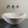 """C51PAP 100x100 - 18""""  Stone Forest Roma Stone Vessel Sink- Oval"""