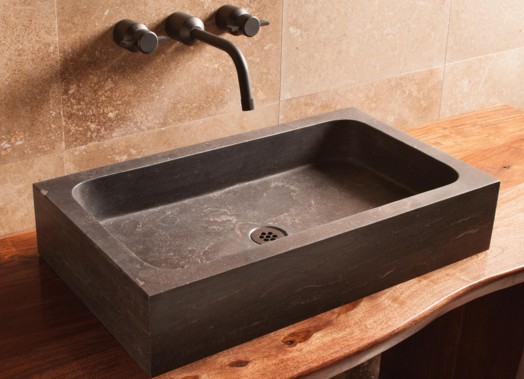 "C52AGL - 26"" Stone Forest Milano Stone Vessel Sink- Avail in 3 colors"