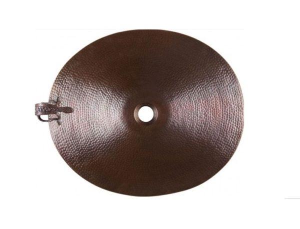 """CASGBCLB 600x459 - 19"""" X 17"""" Thompson Traders Charkra w/Gecko Sink- Black Copper"""