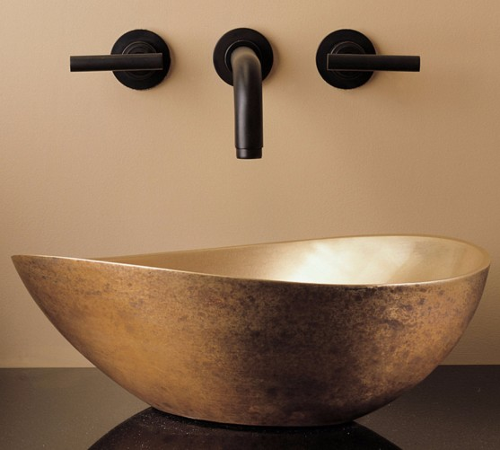 """CP18GB - 16.25"""" Stone Forest Bronze Papillion Vessel Sink-Avail in 3 colors"""