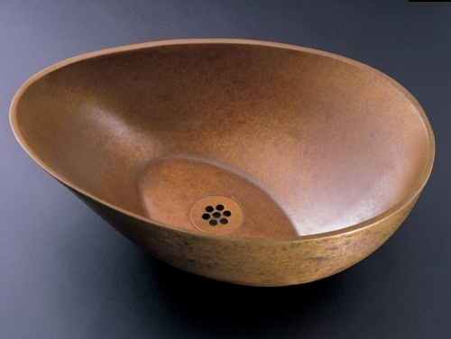 """CP18webz - 16.25"""" Stone Forest Bronze Papillion Vessel Sink-Avail in 3 colors"""