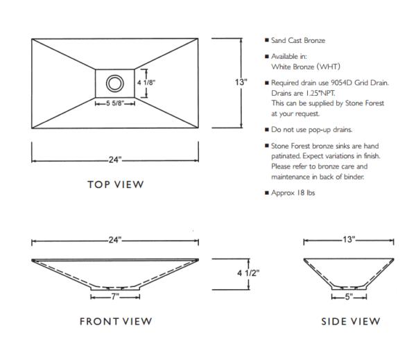 "CP5024WHTS 600x486 - 24"" Stone Forest New Bronze Verona Vessel Sink-White Bronze"