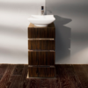 """DE103 100x100 - 18 1/8"""" Lacava La Scala Vanity Base-Optional sink-Avail in Multiple finishes"""