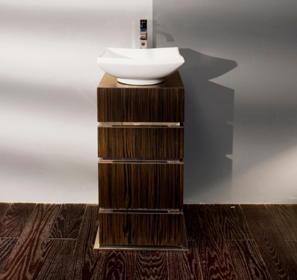 "DE103 600x565 - 18 1/8"" Lacava La Scala Vanity Base-Optional sink-Avail in Multiple finishes"