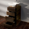 """DE103A 100x100 - 18 1/8"""" Lacava La Scala Vanity Base-Optional sink-Avail in Multiple finishes"""