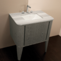 """GA130 120x120 - 32"""" Lacava Giulia  Wall Mount Vanity Base Optional Tops, sink & legs-Avail in Multiple finishes"""