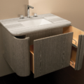 """GA130A 120x120 - 32"""" Lacava Giulia  Wall Mount Vanity Base Optional Tops, sink & legs-Avail in Multiple finishes"""