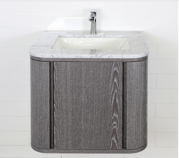 "GA131A 600x529 - 24"" Lacava Giulia  Wall Mount Vanity Base Optional Tops, sink-Avail in Multiple finishes"