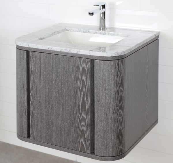 "GA131B 600x564 - 24"" Lacava Giulia  Wall Mount Vanity Base Optional Tops, sink-Avail in Multiple finishes"