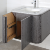 "GA131C 100x100 - 24"" Lacava Giulia  Wall Mount Vanity Base Optional Tops, sink-Avail in Multiple finishes"