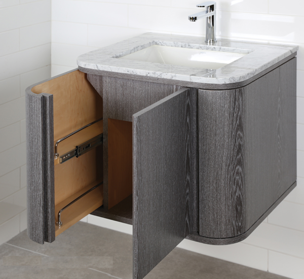 "GA131C 600x550 - 24"" Lacava Giulia  Wall Mount Vanity Base Optional Tops, sink-Avail in Multiple finishes"