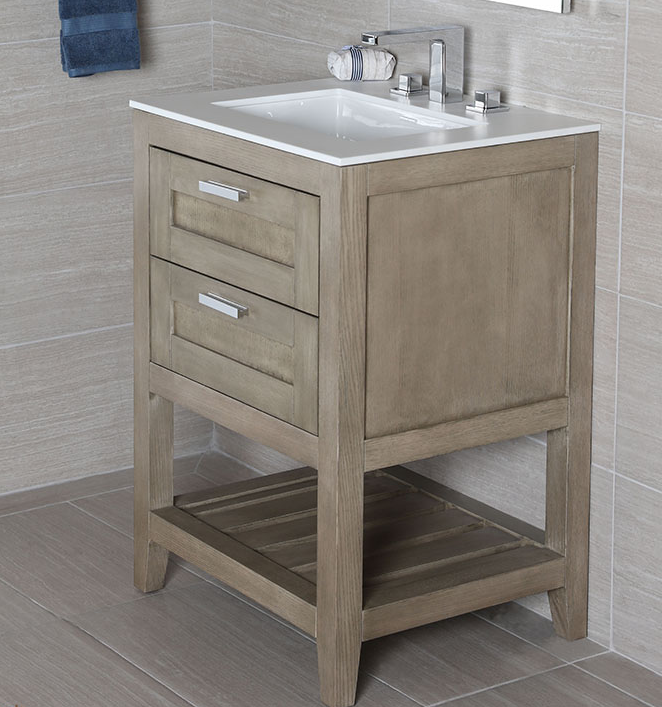 """H281B - 23.5"""" Lacava Stile-B Vanity Base Optional Top & sink-Avail in Multiple finishes"""