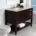 """H283L 120x120 - 35.5"""" Lacava Stile Vanity Base Optional Tops & Sink -Avail in Multiple finishes"""