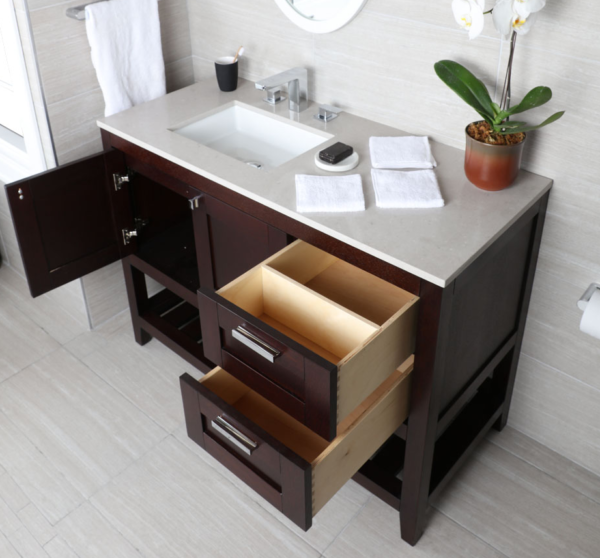 """H283LA 600x558 - 35.5"""" Lacava Stile Vanity Base Optional Tops & Sink -Avail in Multiple finishes"""