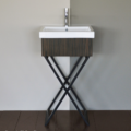 """M200 120x120 - 19 1/8"""" Lacava Moda Vanity Base & Sink-Avail in Multiple finishes"""