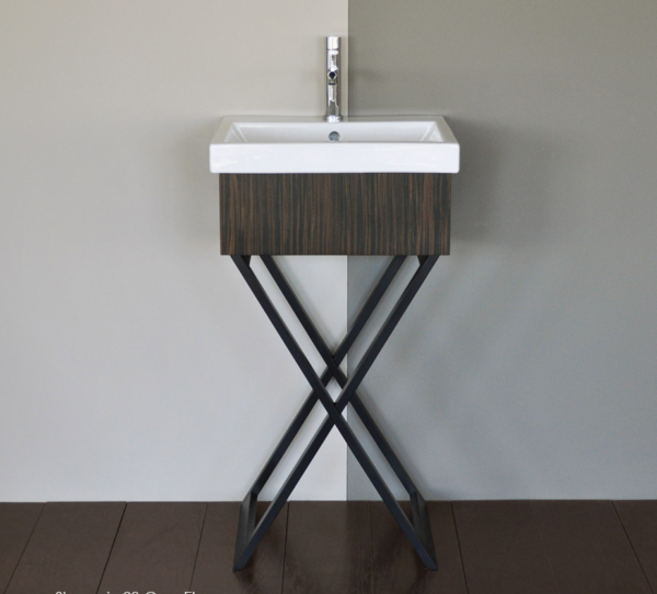 """M200 600x543 - 19 1/8"""" Lacava Moda Vanity Base & Sink-Avail in Multiple finishes"""