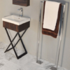 "M200A 100x100 - 19 1/8"" Lacava Moda Vanity Base & Sink-Avail in Multiple finishes"