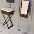 "M200A 120x120 - 19 1/8"" Lacava Moda Vanity Base & Sink-Avail in Multiple finishes"
