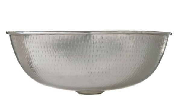 """P231223A 600x362 - 14"""" Thompson Traders Petit Manet Hammered Nickel Sink"""