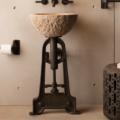 "PIINDPED 120x120 - 19"" Stone Forest Industrial Pedestal-Cast Iron"