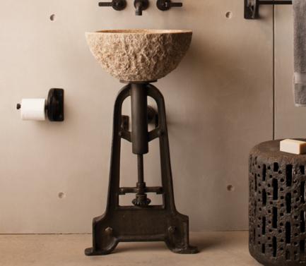 "PIINDPED - 19"" Stone Forest Industrial Pedestal-Cast Iron"