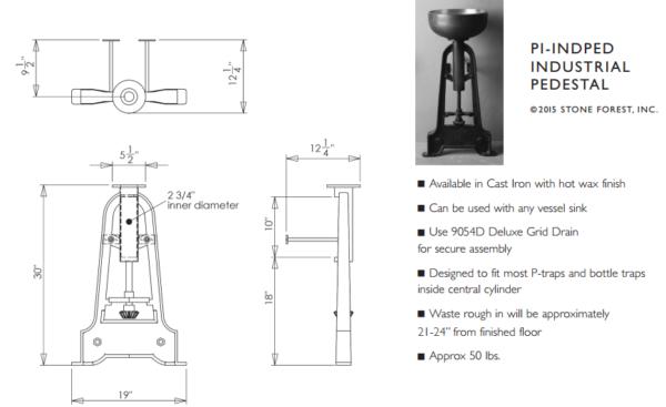 "PIINDPEDS 600x367 - 19"" Stone Forest Industrial Pedestal-Cast Iron"