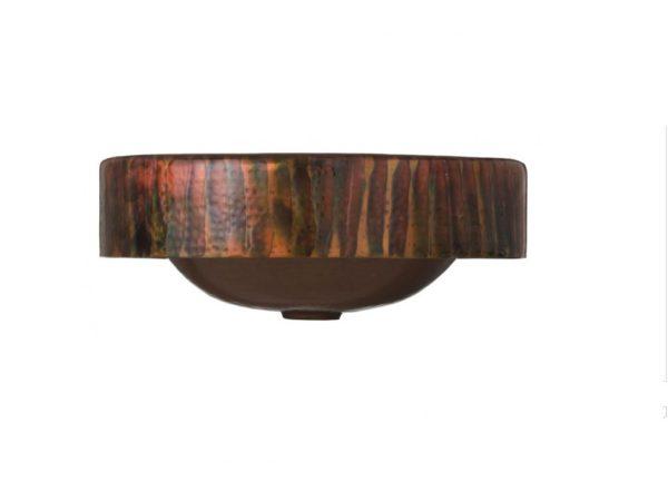"RTWB 600x450 - 17"" Thompson Traders Baccus Tornasol Copper Sink"
