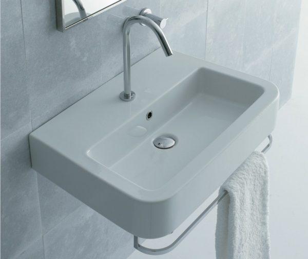"SSR11 600x504 - 22 7/8"" Lacava Open Space Wall Mount Sink-Optional Towel Bar"