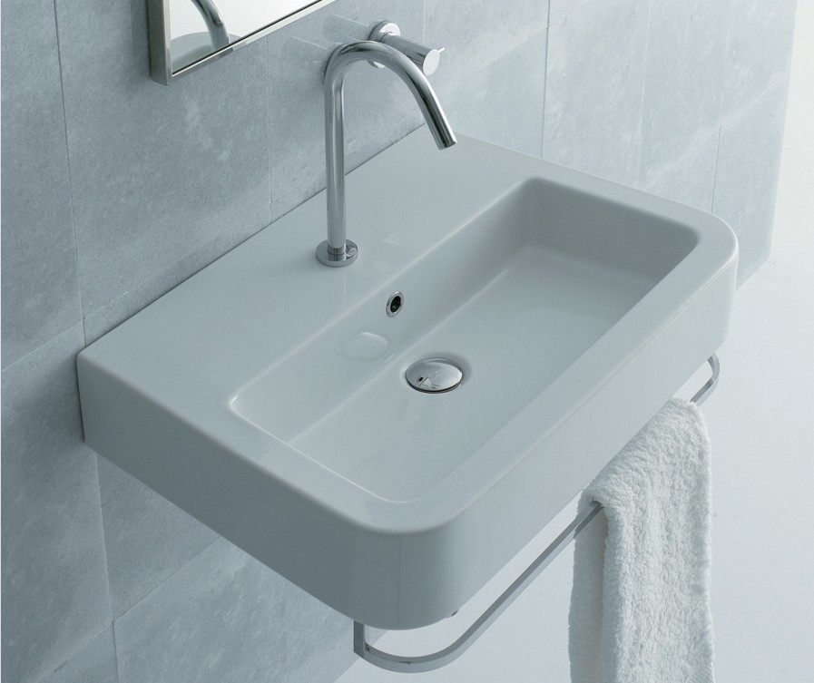 22 78 Lacava Open Space Wall Mount Sink Optional Towel Bar