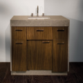 "STO22 120x120 - 36"" Lacava Pietra Vanity Base Optional Top, sink, toekick, & side panels-Avail in Multiple finishes"