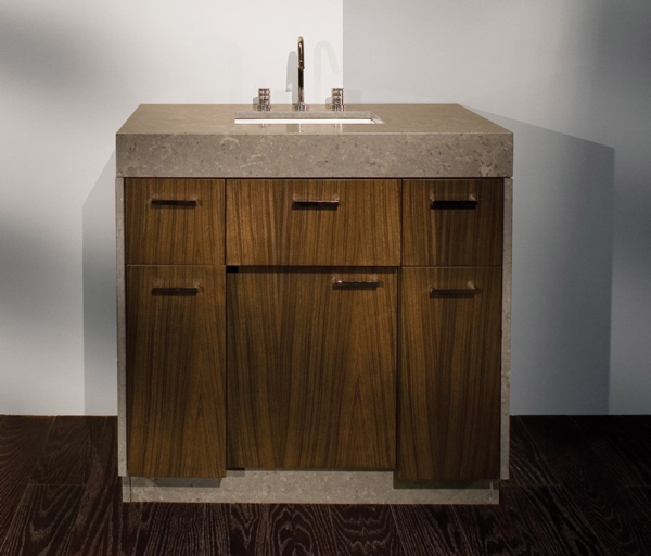 "STO22 600x512 - 36"" Lacava Pietra Vanity Base Optional Top, sink, toekick, & side panels-Avail in Multiple finishes"