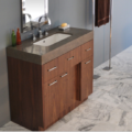 "STO22A 120x120 - 36"" Lacava Pietra Vanity Base Optional Top, sink, toekick, & side panels-Avail in Multiple finishes"