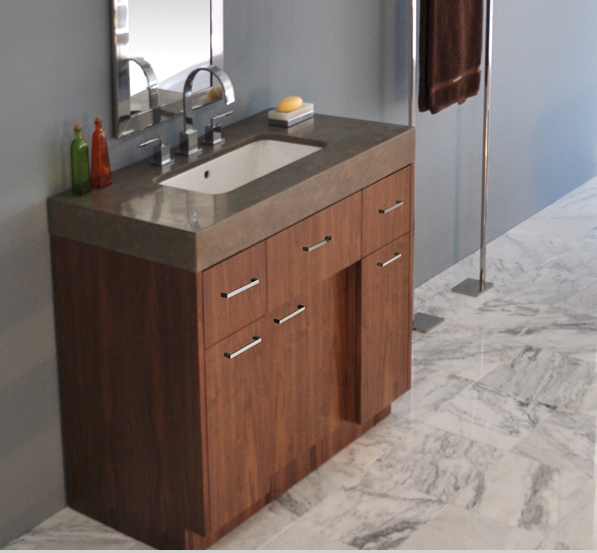 "STO22A - 36"" Lacava Pietra Vanity Base Optional Top, sink, toekick, & side panels-Avail in Multiple finishes"