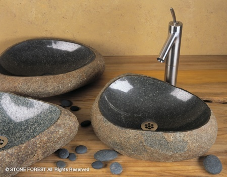 "c27 - 15""- 20"" Stone Forest Natural Wabi Vessel Sink"