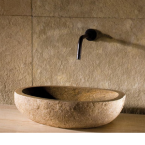 17u2033  22u2033 Stone Forest Natural Pebble Vessel Sink