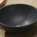 "c35hb 120x120 - 16""  Stone Forest Round Stone Vessel Sink- Avail in 5 colors"