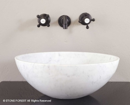 "c35wc - 16""  Stone Forest Round Stone Vessel Sink- Avail in 5 colors"