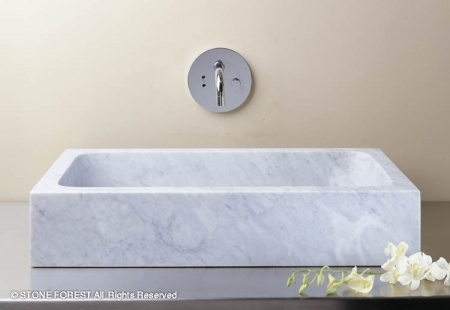 "c52 - 26"" Stone Forest Milano Stone Vessel Sink- Avail in 3 colors"